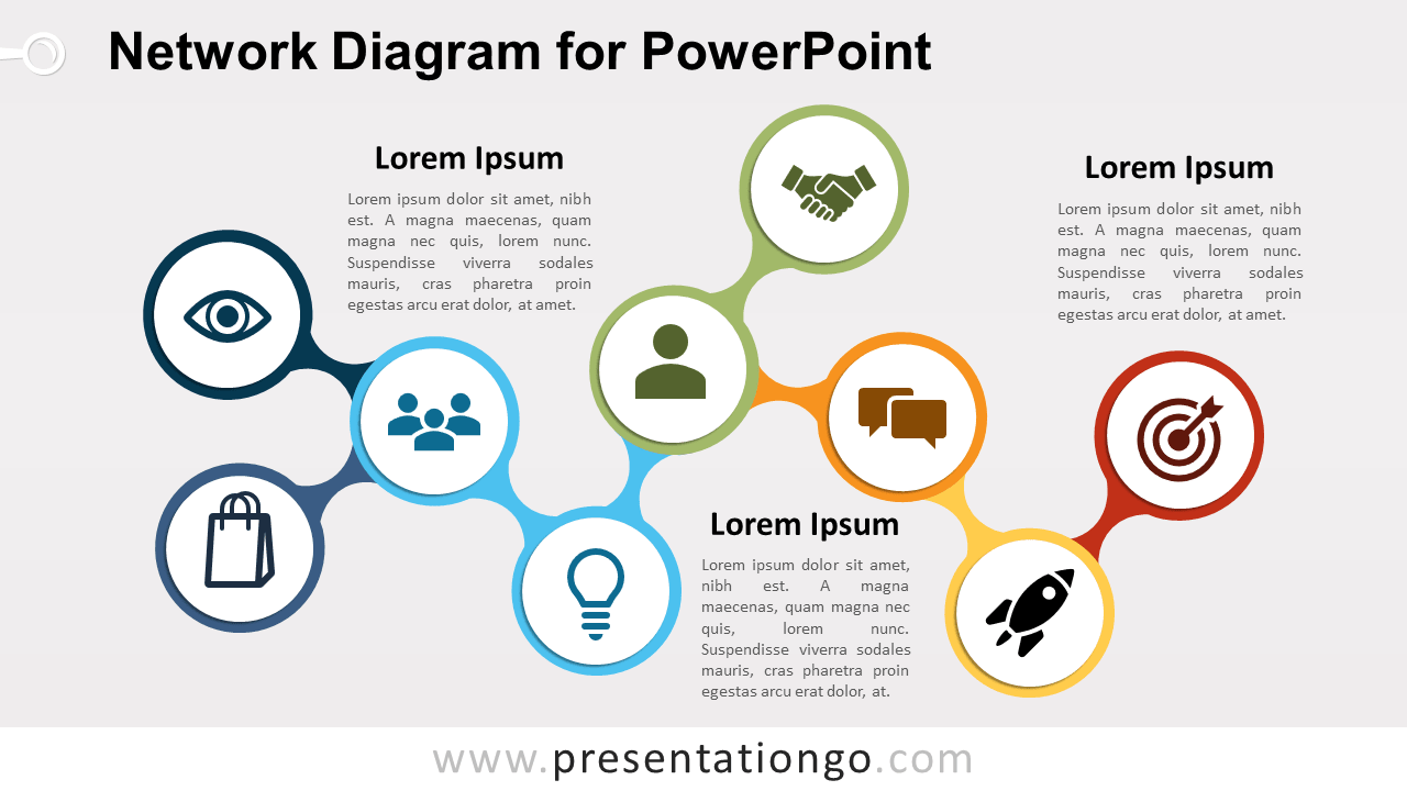Free Network PowerPoint Diagram