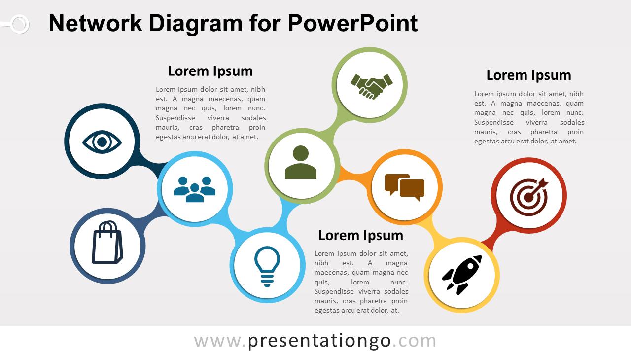 Network diagram for powerpoint presentationgo free network powerpoint diagram ccuart Image collections