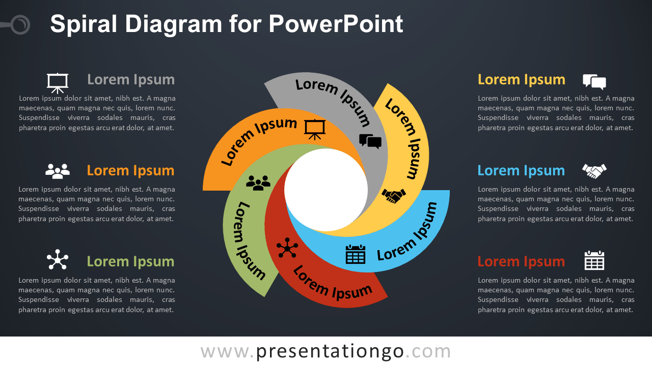 Free Spiral Diagram PowerPoint Diagram Template