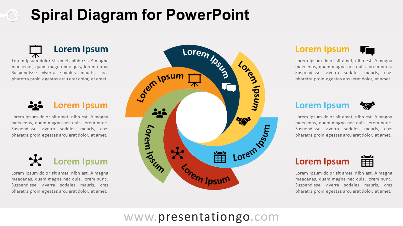 Free Spiral Diagram PowerPoint Diagram