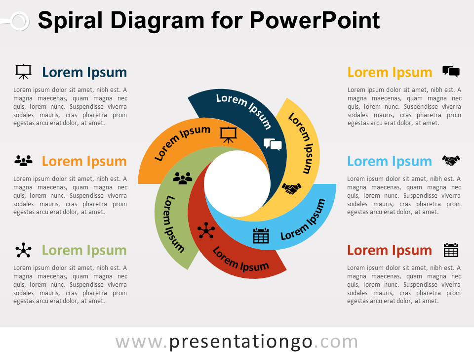 Free charts and diagrams for powerpoint presentationgo spiral diagram for powerpoint ccuart Images