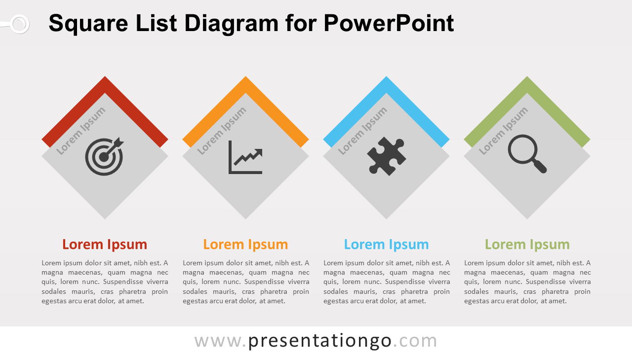 Square list diagram for powerpoint presentationgo free square list powerpoint diagram ccuart Choice Image