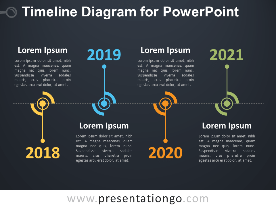 Free Timeline Diagram for PowerPoint Template