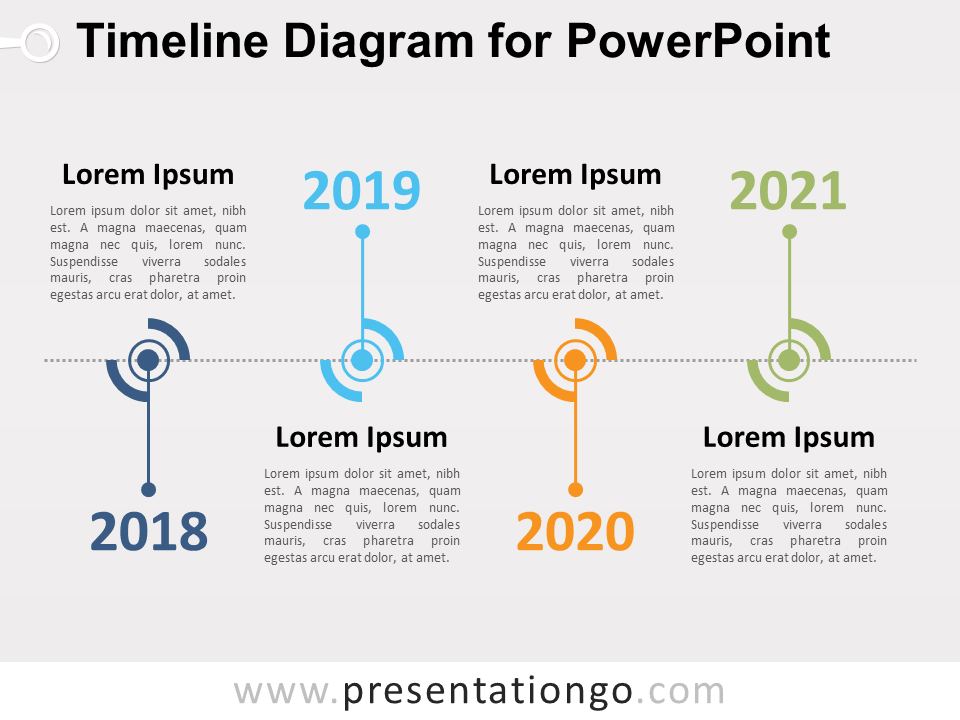 Free Timeline Diagram for PowerPoint