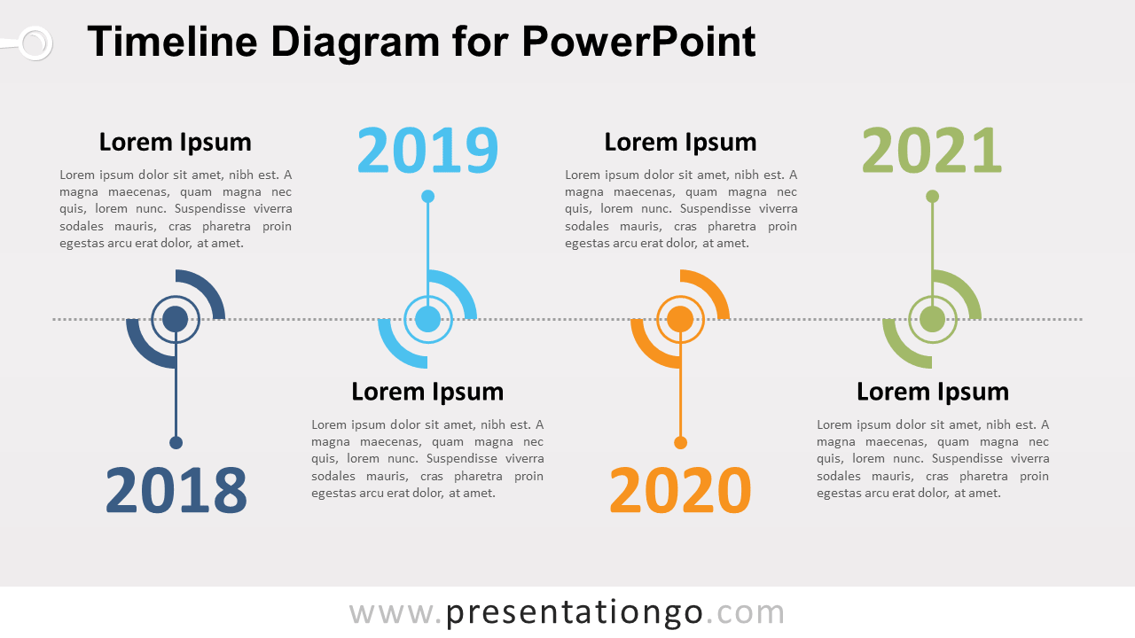Free Timeline PowerPoint Diagram