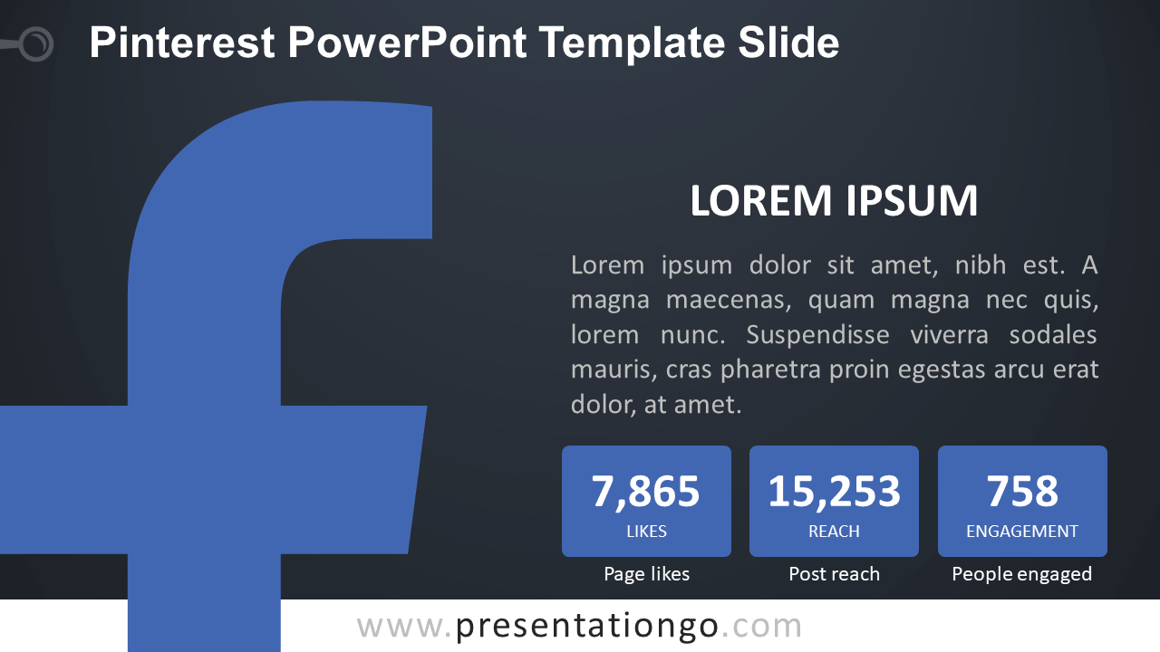 Free Facebook PowerPoint Slide - Dark Background