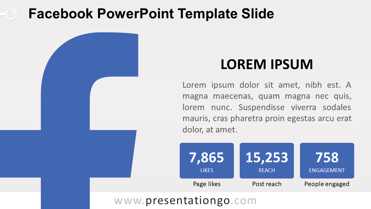 Free Facebook PowerPoint Slide