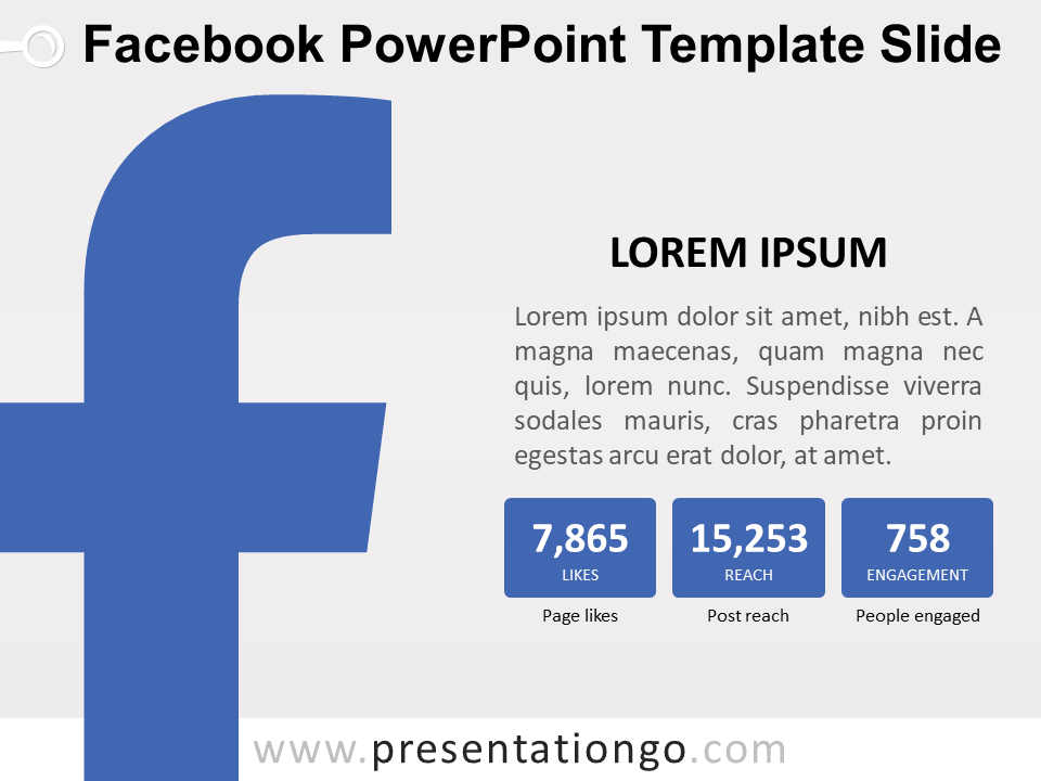 Free Facebook PowerPoint Template Slide
