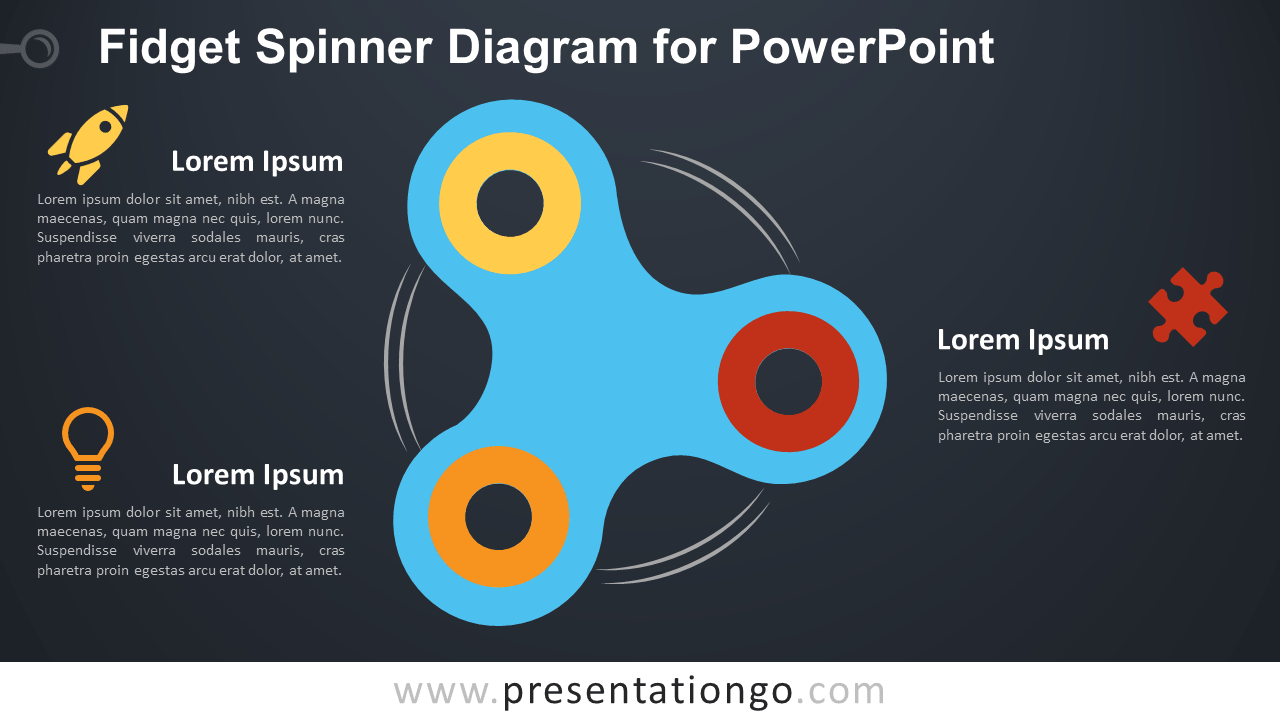 Free Fidget Spinner for PowerPoint - Dark Background