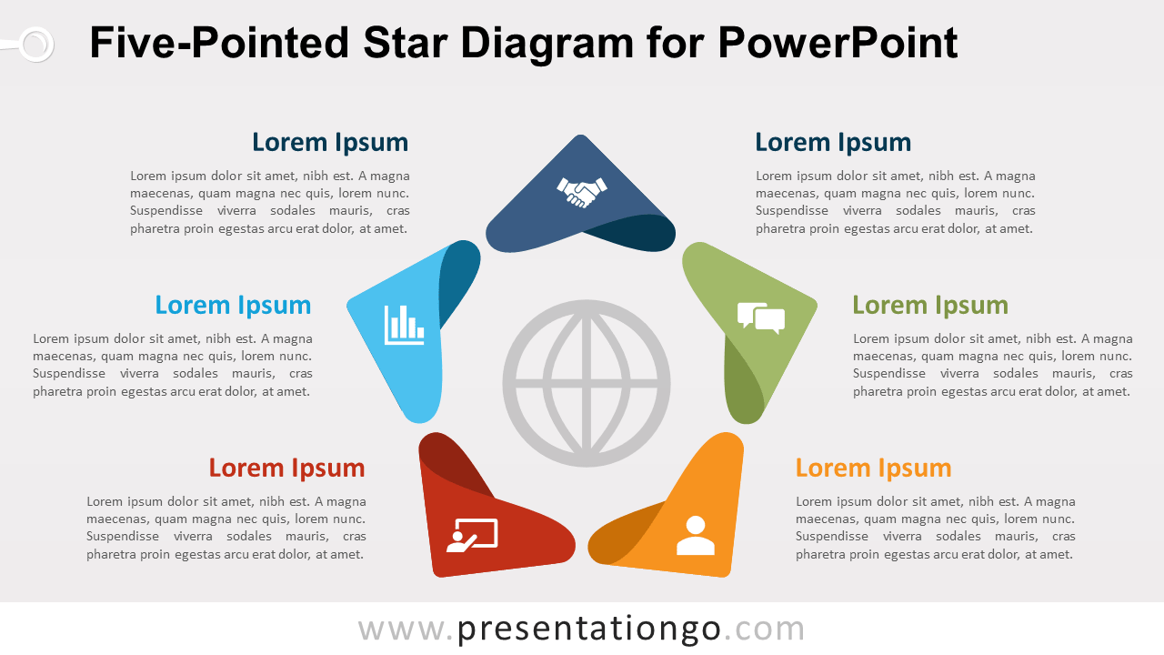 Free Five-Pointed Star for PowerPoint