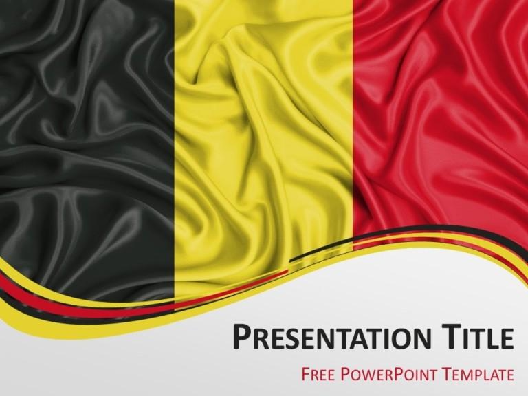 Free Flag Belgium PowerPoint Template
