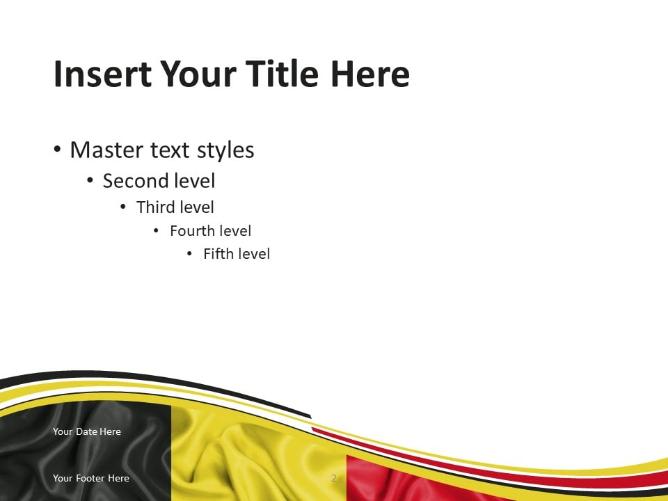 Flag Belgium PowerPoint Template - Slide 2