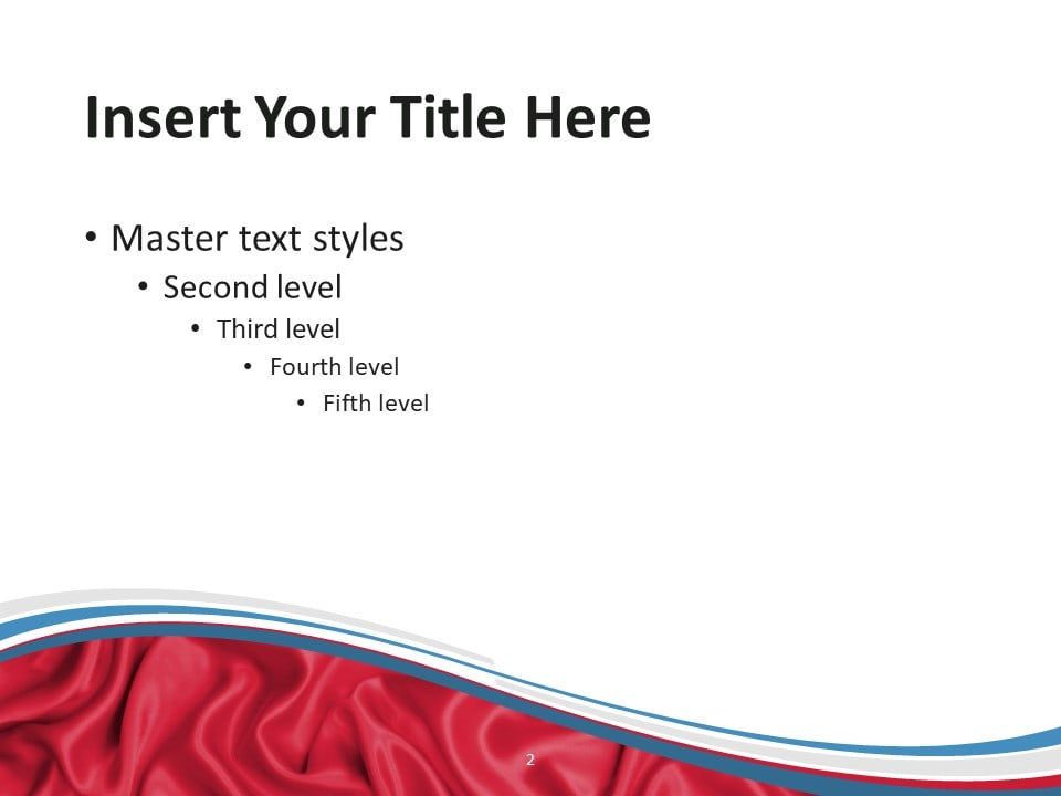 Free Flag Luxembourg PowerPoint Template - Slide 2