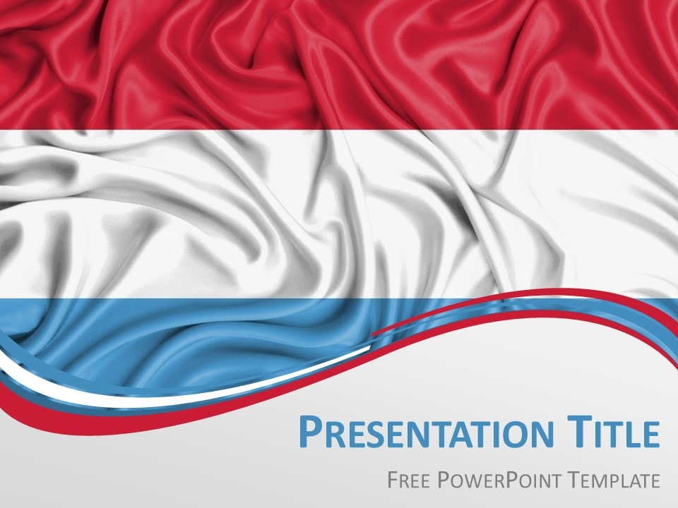Free Flag Luxembourg PowerPoint Template