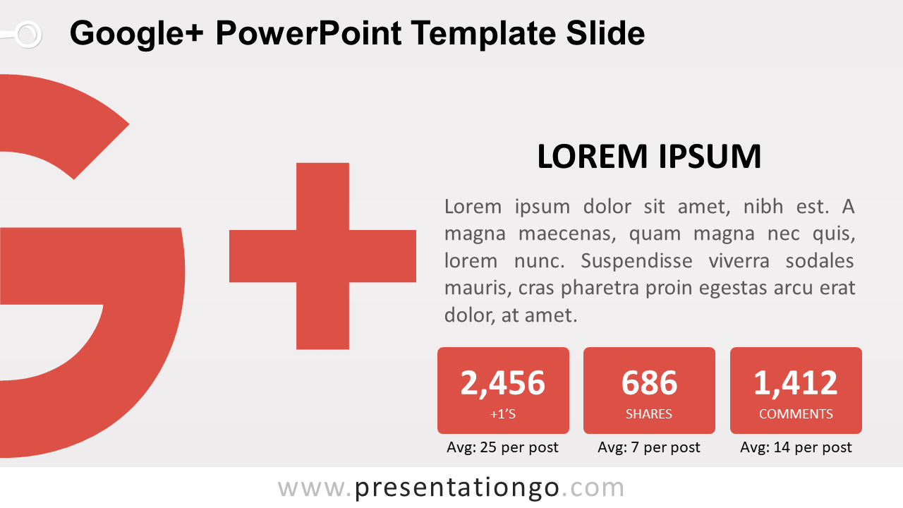 Free Google Plus PowerPoint Slide