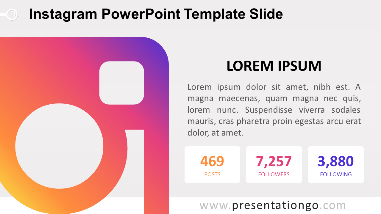 Free Instagram PowerPoint Slide