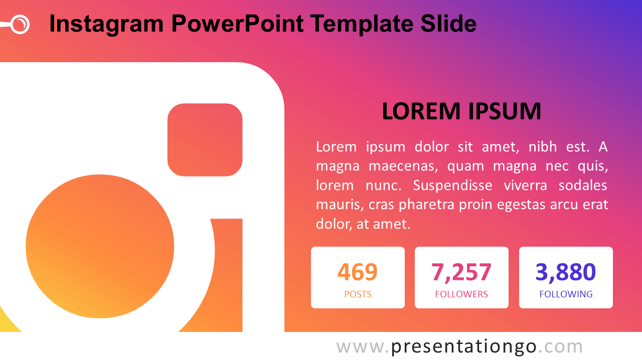 Free Instagram PowerPoint Slide 2