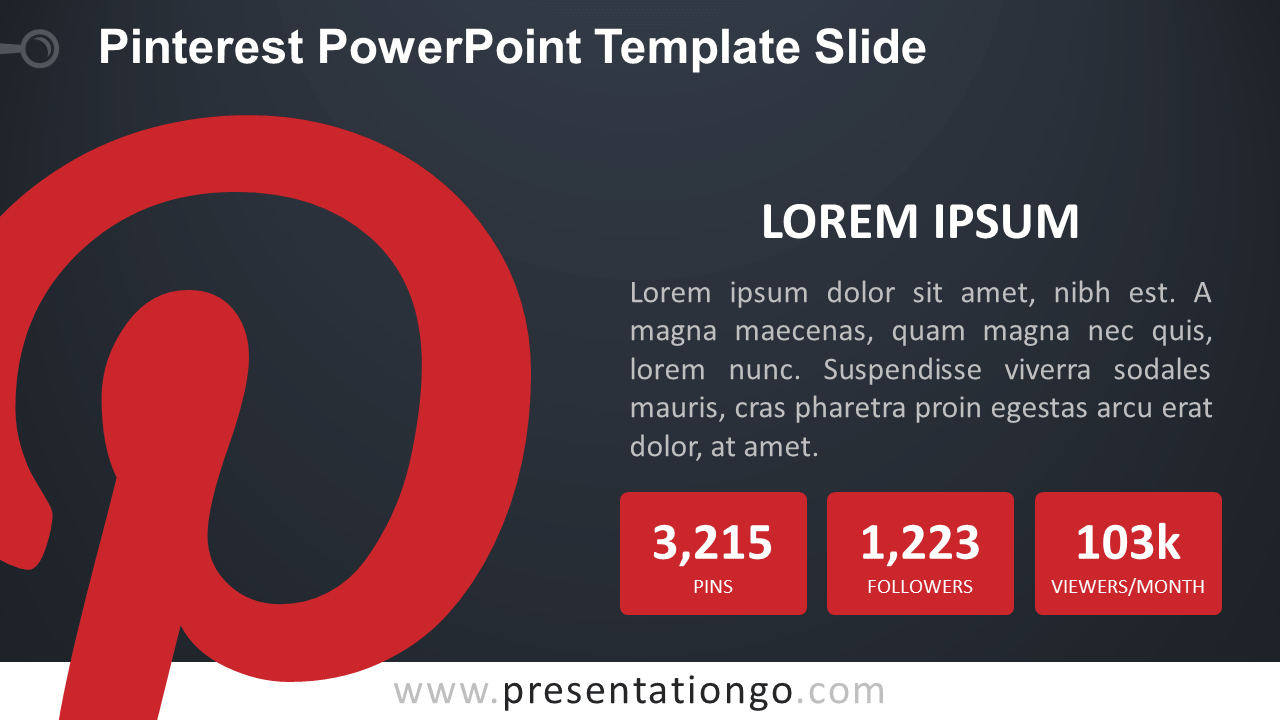 Free Pinterest PowerPoint Slide - Dark Background