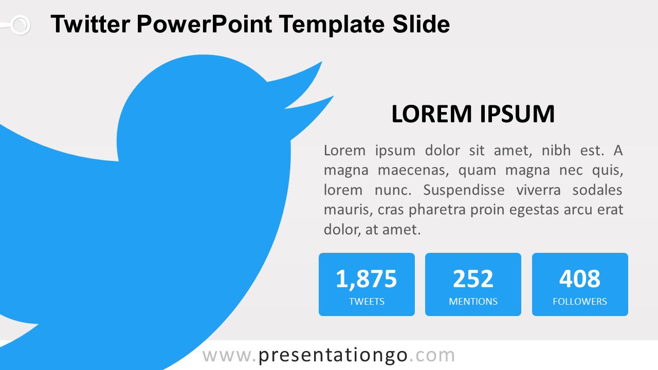 Free Twitter PowerPoint Slide