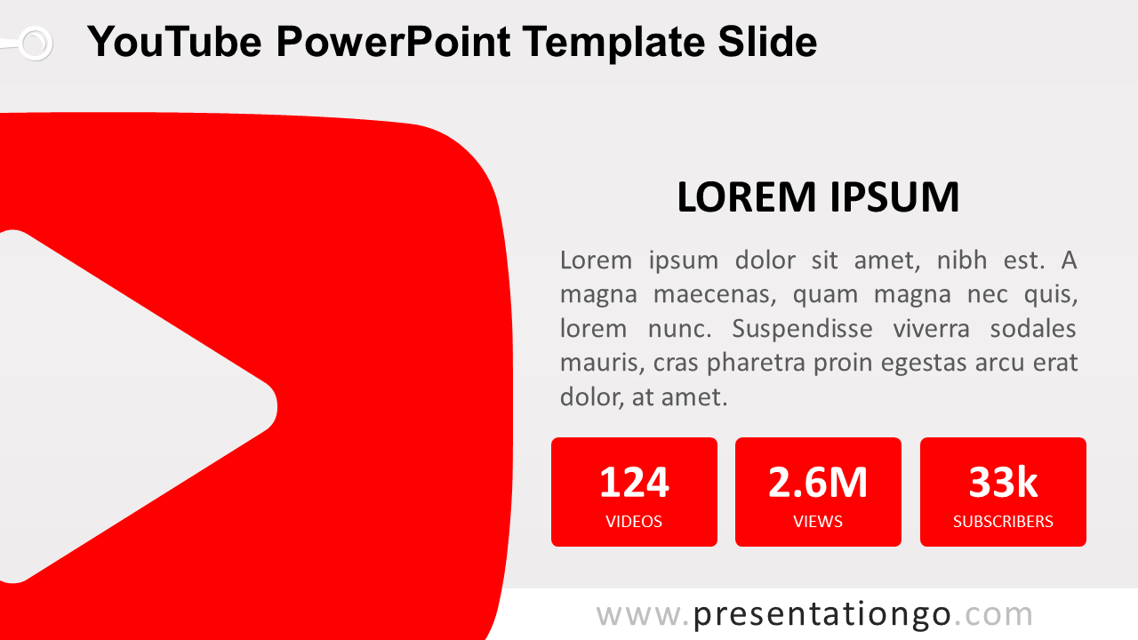 Free YouTube PowerPoint Slide