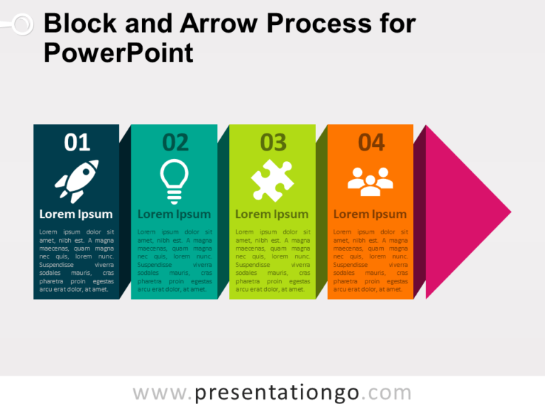 Free Block and Arrow Process for PowerPoint