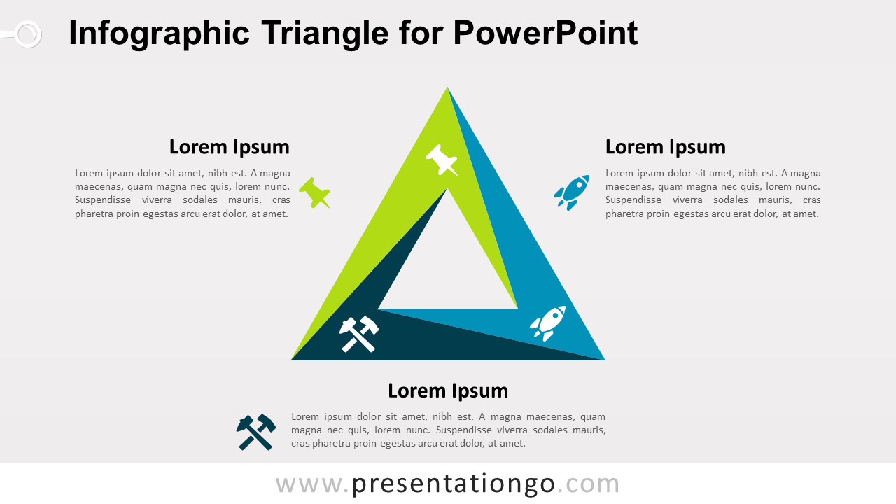 Free Infographic Triangle PowerPoint Diagram