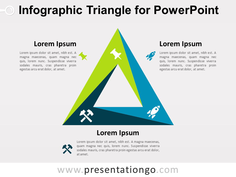 infographic triangle for powerpoint presentationgo com