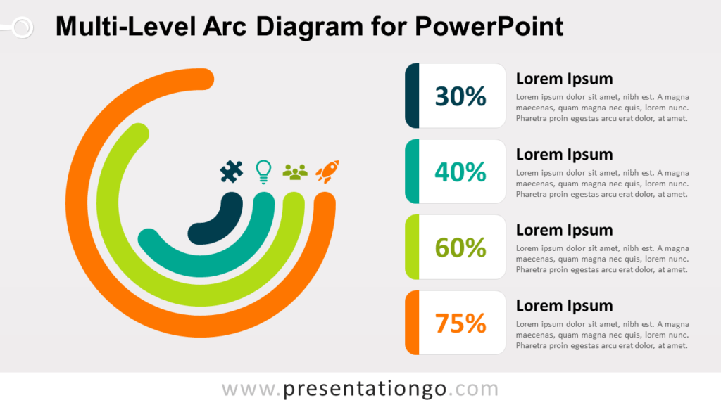 Free Multi-Level Arcs for PowerPoint