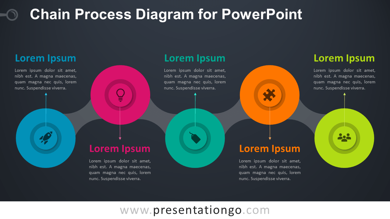 Chain Process - Free PowerPoint Diagram Template