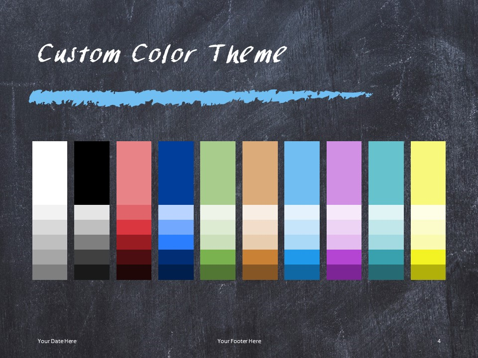 Free Chalkboard PowerPoint Template - Custom Colors
