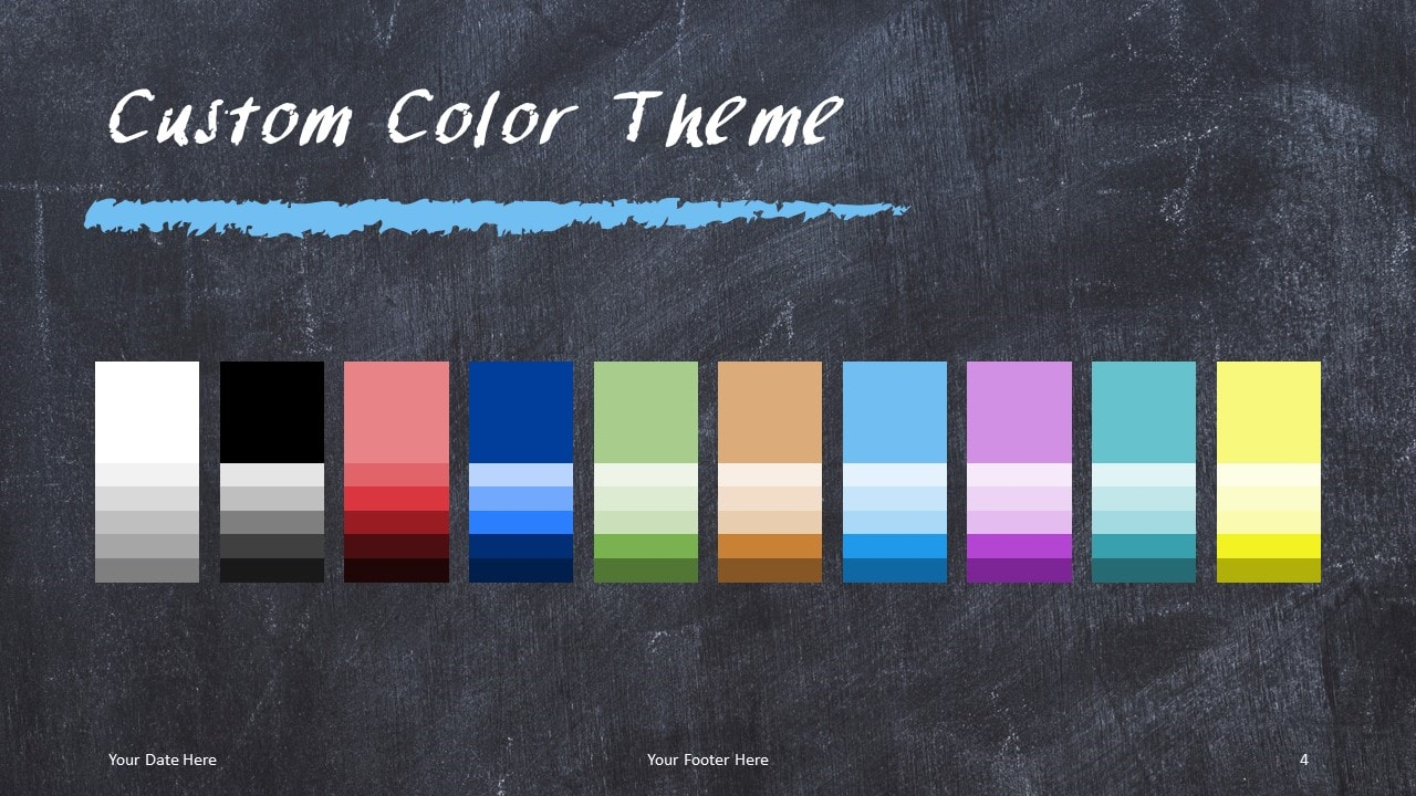 Chalkboard PowerPoint Template for Education - Custom Colors