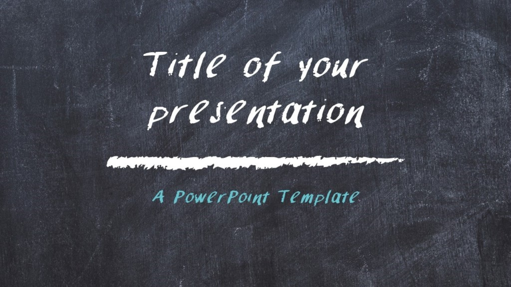 Chalkboard PowerPoint Template for Education - Cover Slide