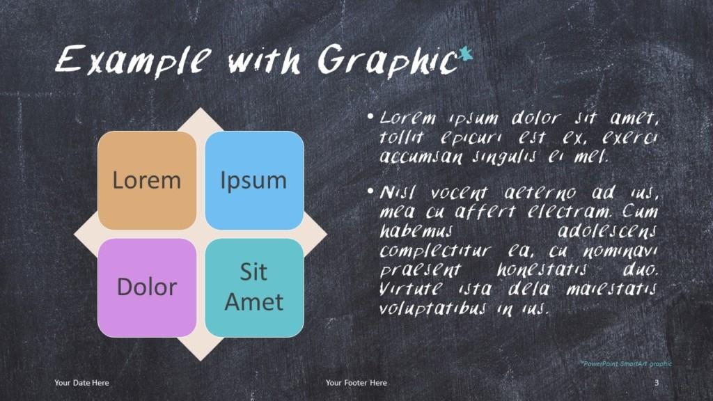 Chalkboard PowerPoint Template for Education - SmartArt