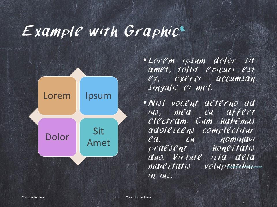 Free Chalkboard PowerPoint Template - SmartArt