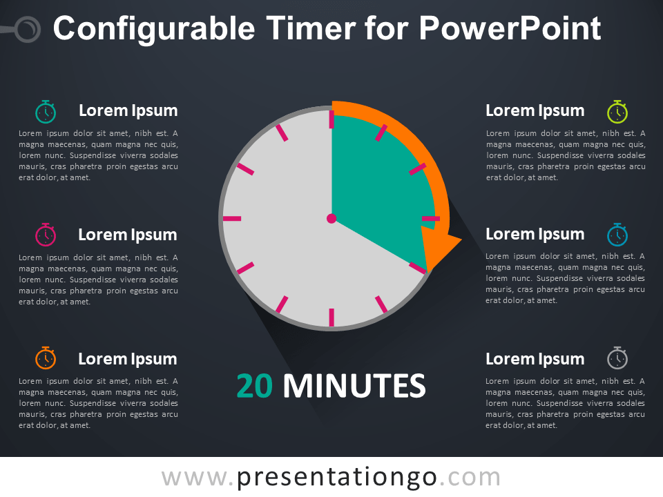 Free Configurable Timer for PowerPoint - Dark Background
