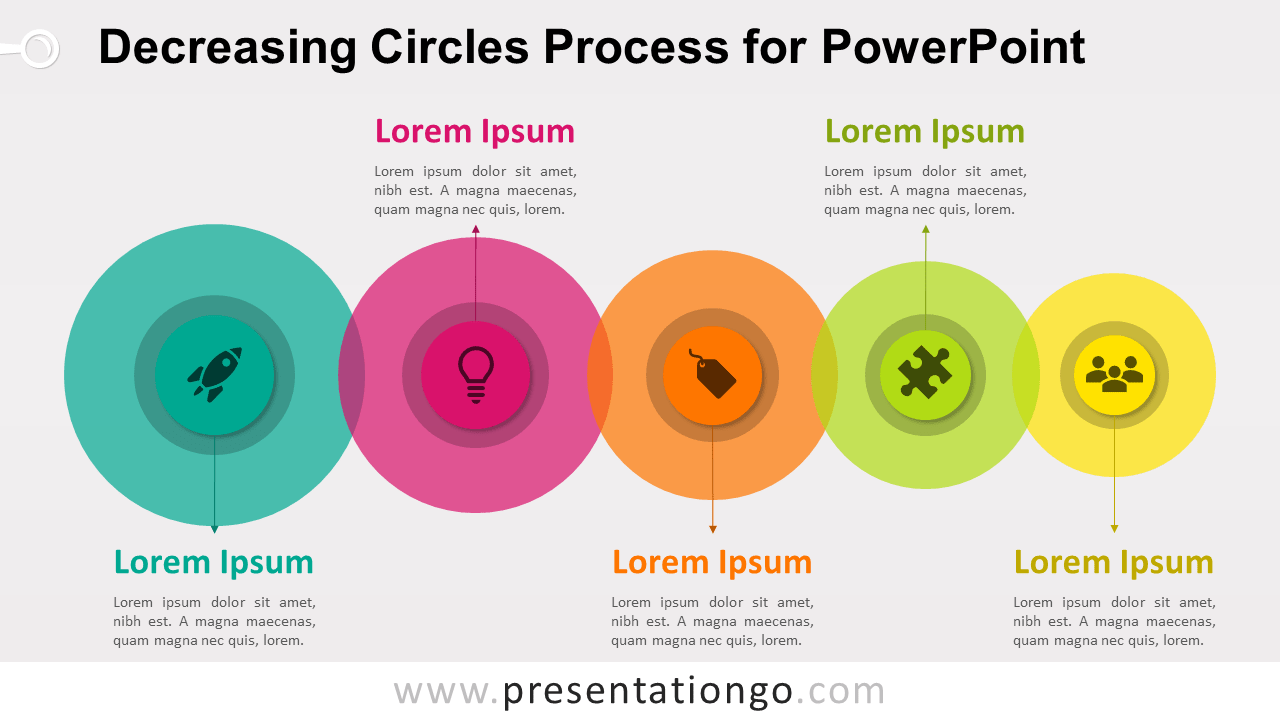 Decreasing Circles Process Diagram for PowerPoint
