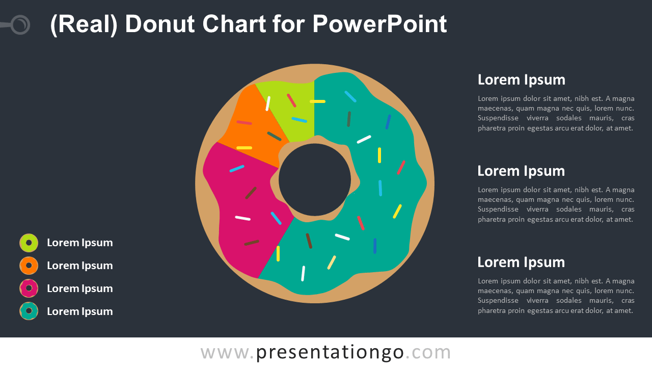 Free Donut Chart for PowerPoint - Dark Background