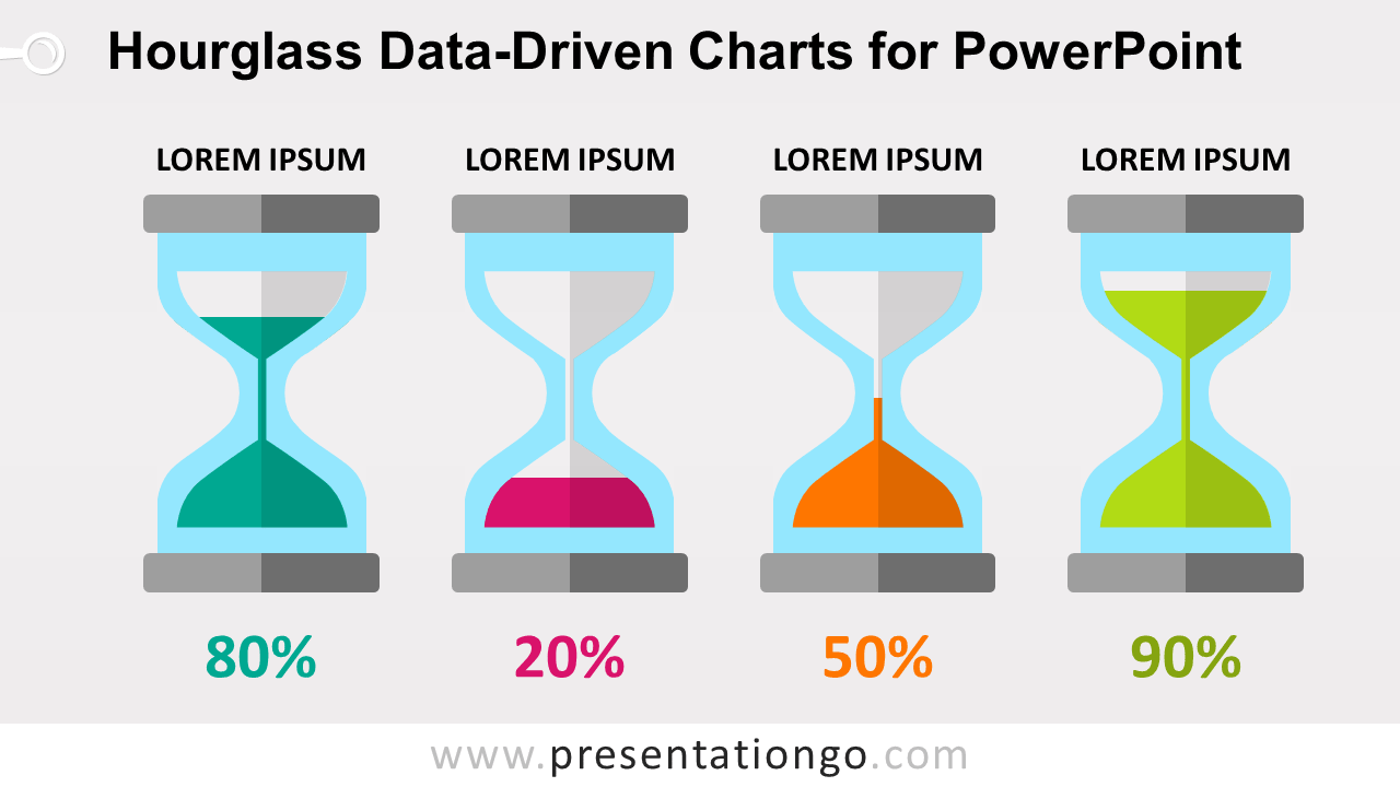 Free Hourglass Charts for PowerPoint