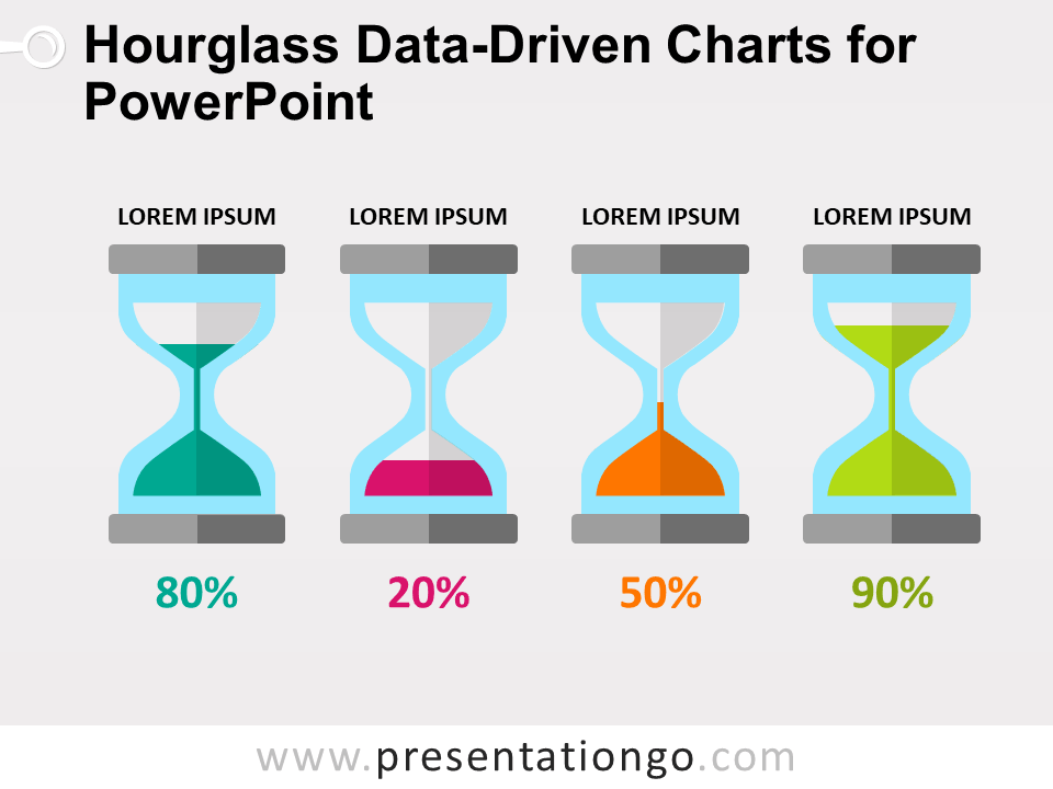 Free Hourglass Data-Driven Charts for PowerPoint