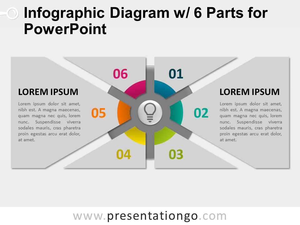 Free Infographic Diagram with 6 Parts for PowerPoint - Slide 2