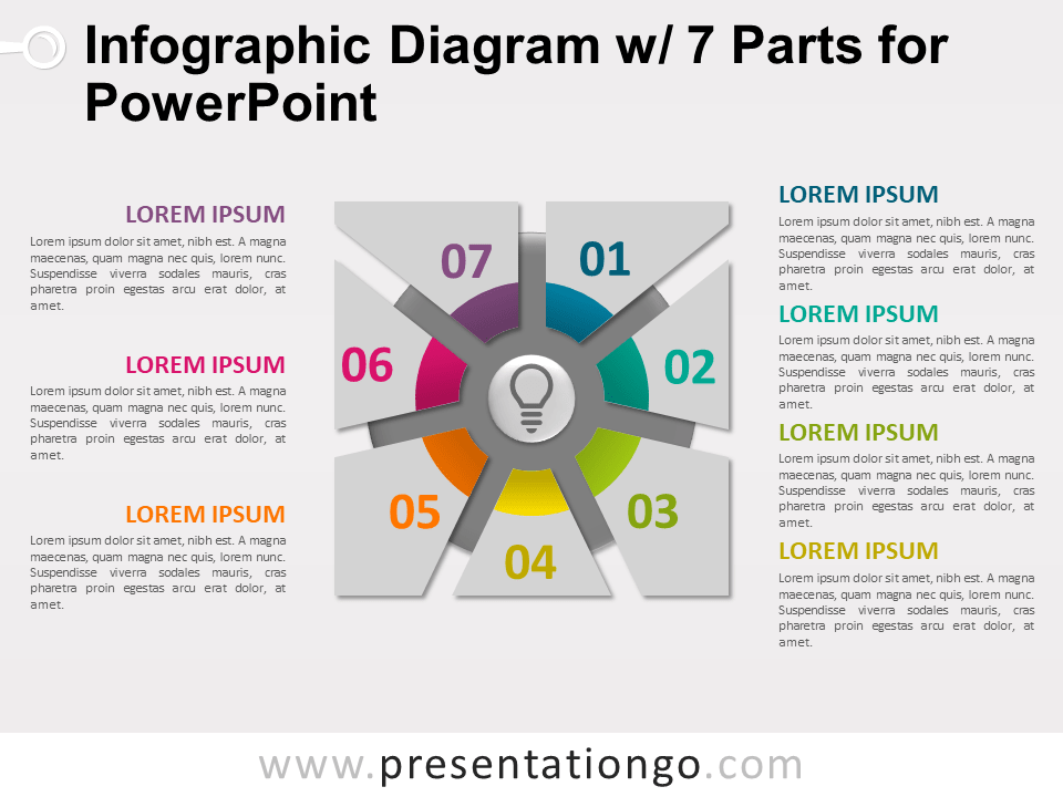 Free Infographic Diagram with 7 Parts for PowerPoint - Slide 1
