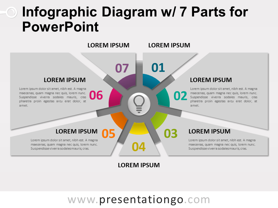 Free Infographic Diagram with 7 Parts for PowerPoint - Slide 2