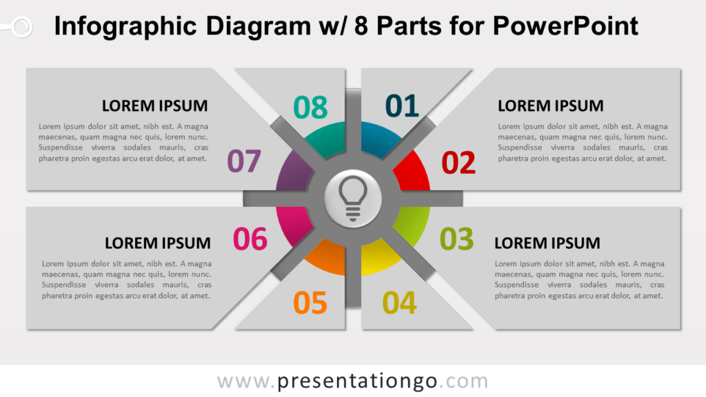 Infographic Diagram with 8 Parts PowerPoint Template - Slide 2