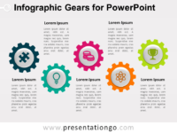 Free Infographic Gears for PowerPoint
