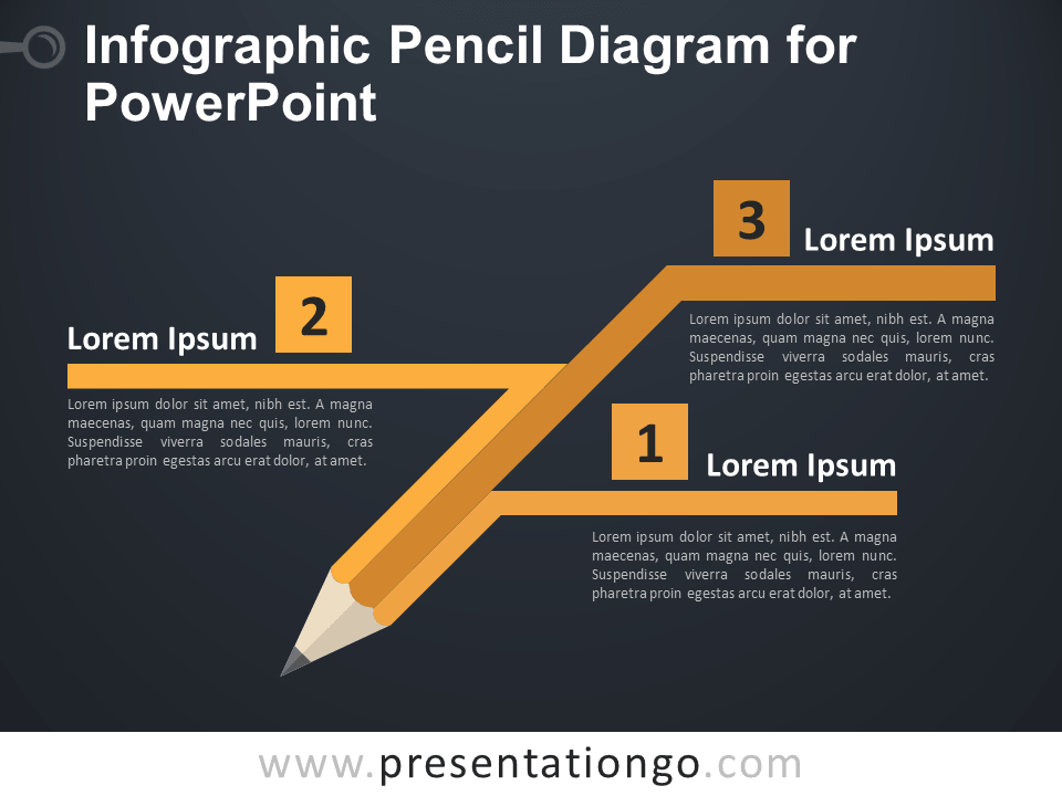 infographic pencil diagram for powerpoint presentationgo com