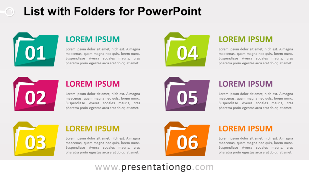 Free List with Folders for PowerPoint