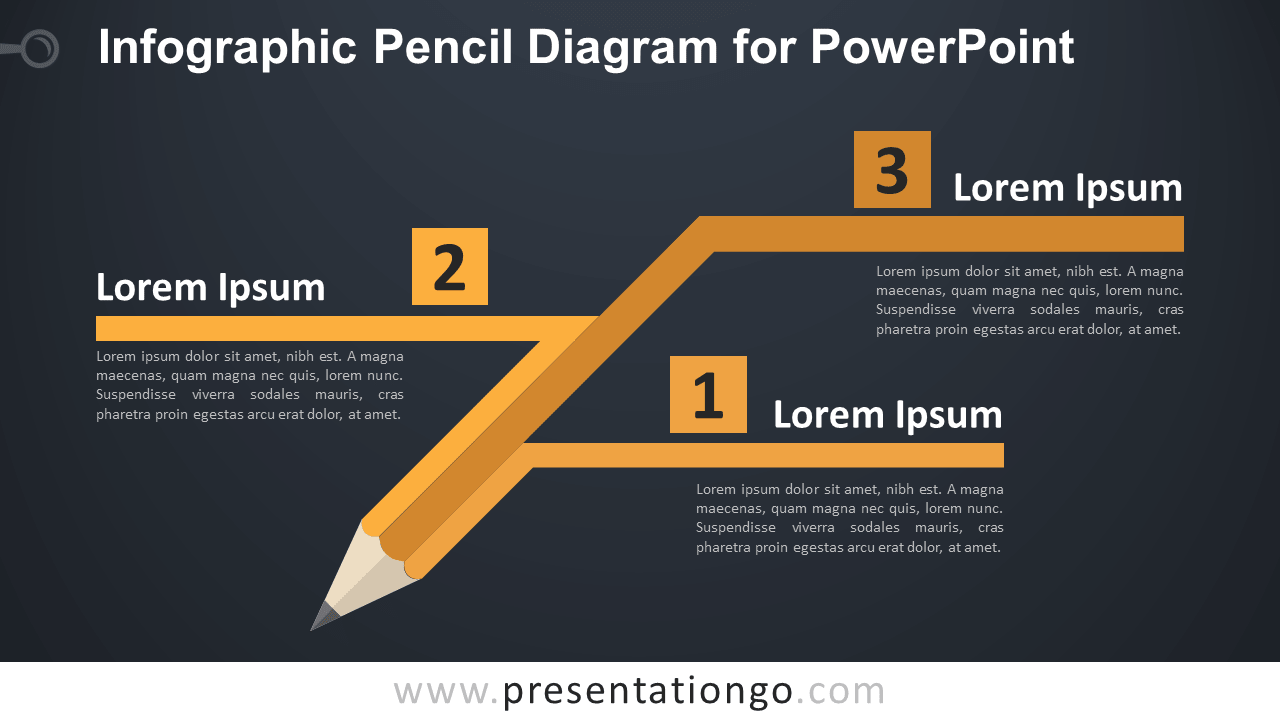 Free Pencil Diagram for PowerPoint Template