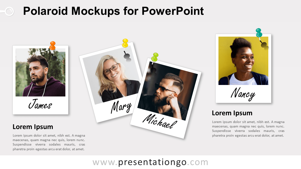 Free Polaroid Frames for PowerPoint
