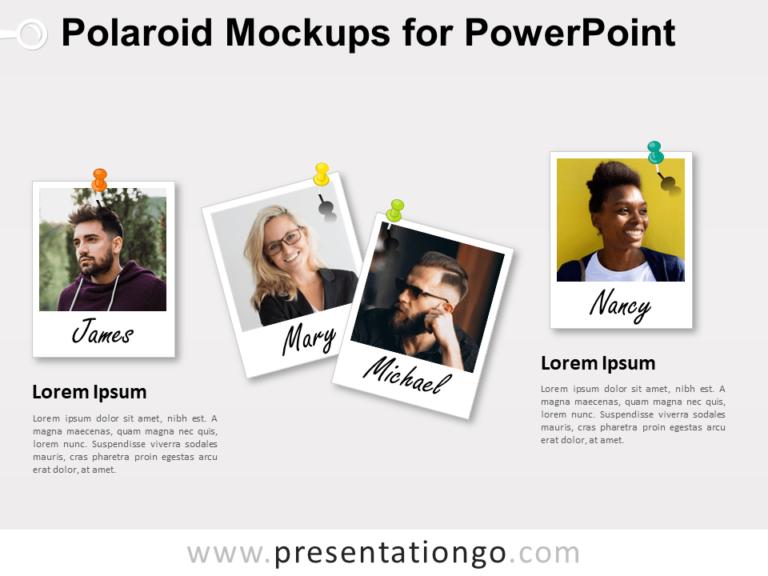 Free Polaroid Mockups for PowerPoint