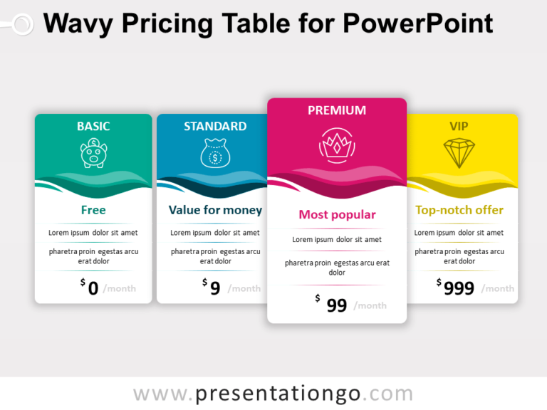 Free Pricing Table for PowerPoint